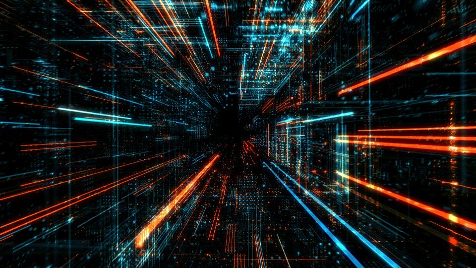 Data transfer and future technology, cyber security concept background, abstract hi speed digital internet.